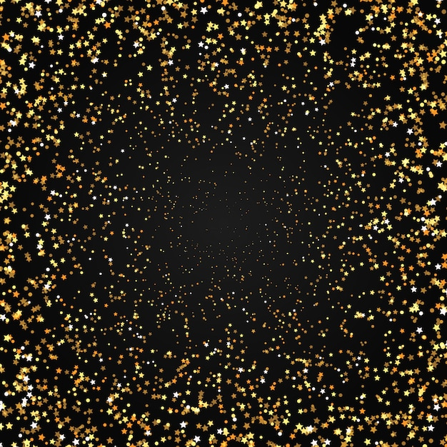 Gold stars background Free Vector