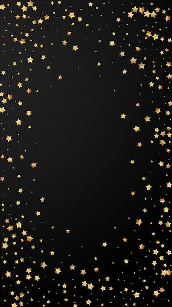 Gold stars random luxury sparkling confetti Premium Vector