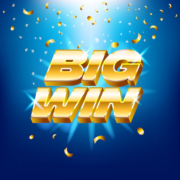 Gold Text For Casino Machines Gambling Games Success Prize