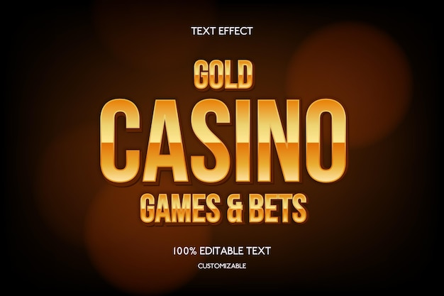 Gold text effect Free Vector