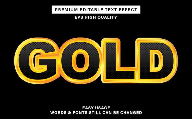Gold text effect Premium Vector
