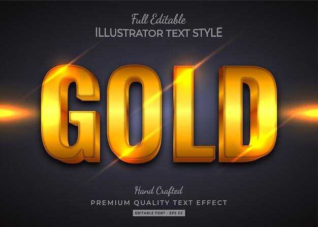 Gold  text style effect premium Premium Vector