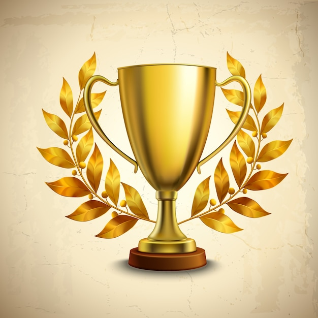 Gold Trophy Premium Vector