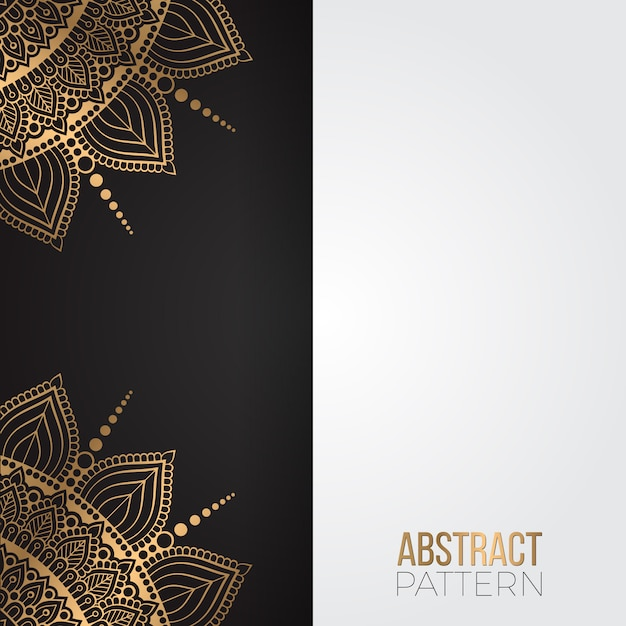 Gold vintage greeting card on a black background Free Vector