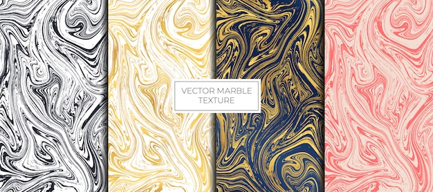 Gold and white marble design. marbling texture Premium Vector