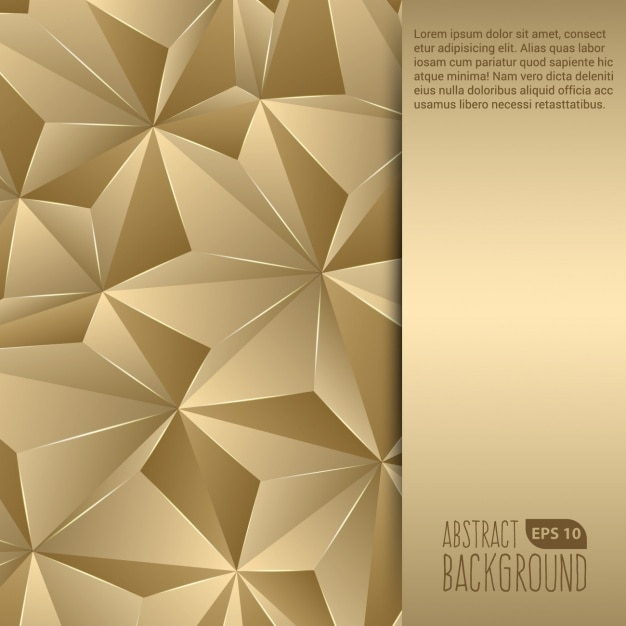 golden abstract background vector free download
