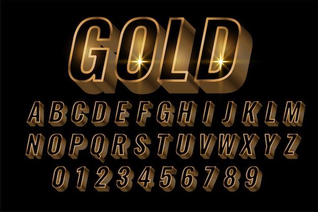 Golden alphabets set premium letters Free Vector