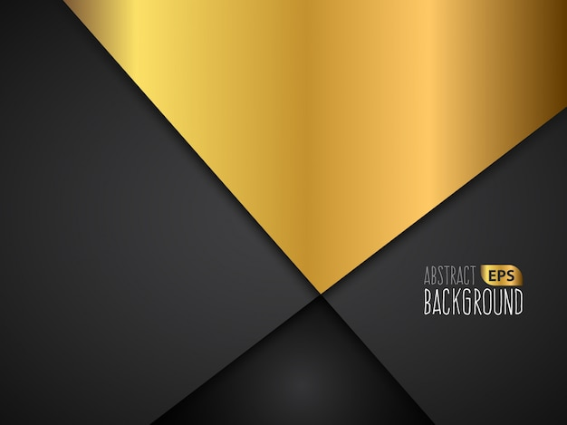 Golden and black abstract background design Vector | Free ...