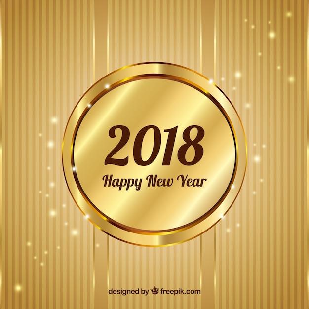 Golden background happy new year