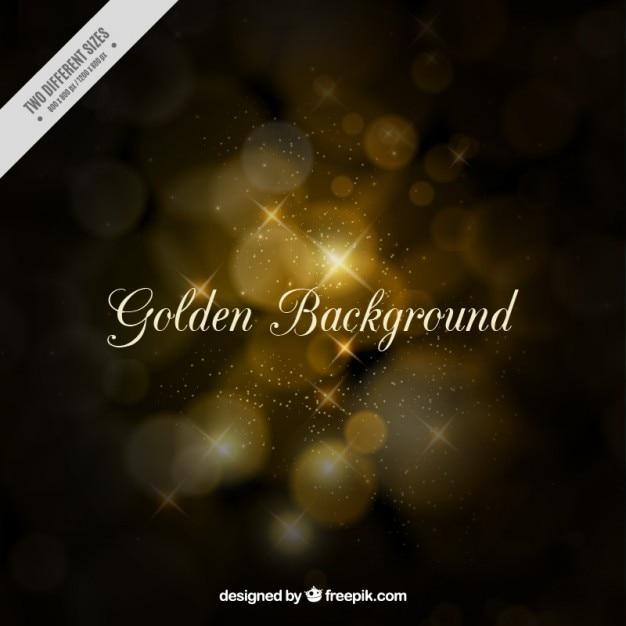 Golden background in bokeh style Free Vector