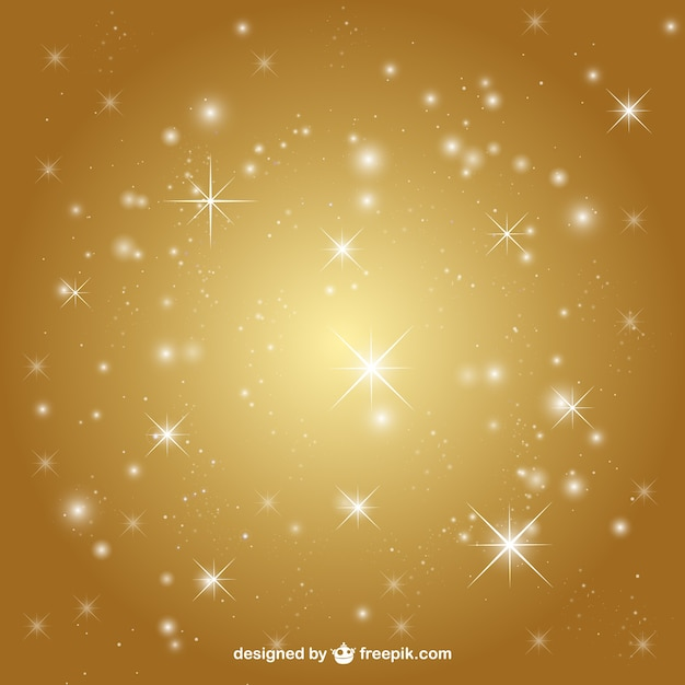 Golden background with stars Vector