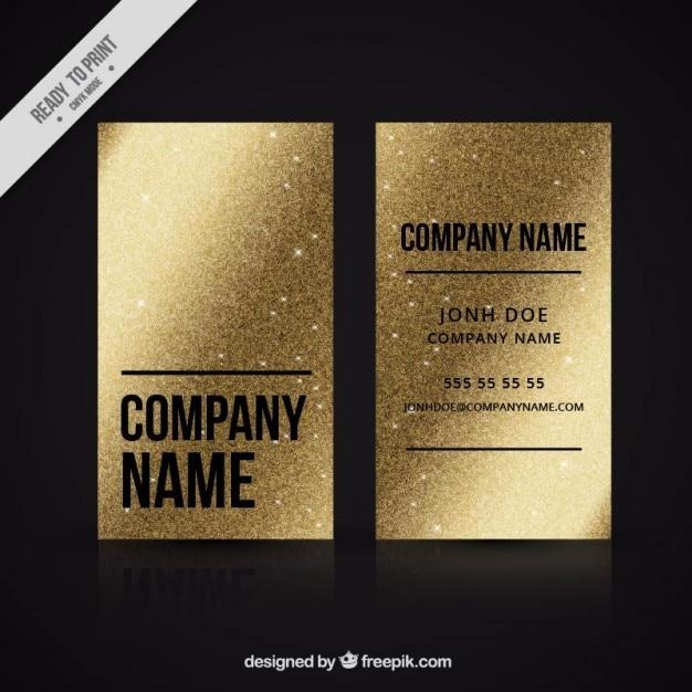 Golden business card made up of metallic paint Vector