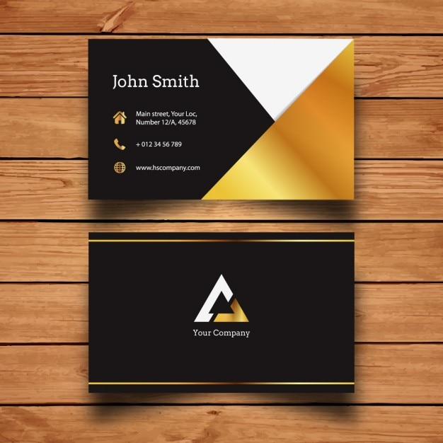 Golden business card template vector free download golden business card template free vector reheart Gallery