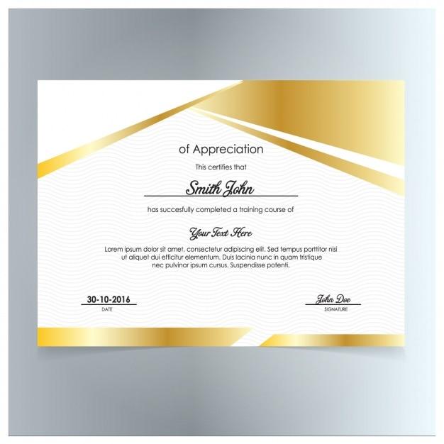 certificate of appreciation free download