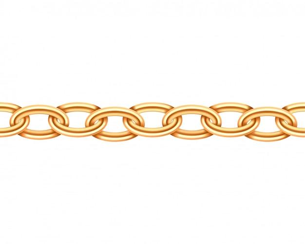 Golden chain seamless texture. Premium Vector