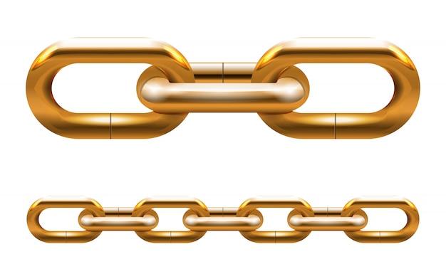 Golden chain Free Vector