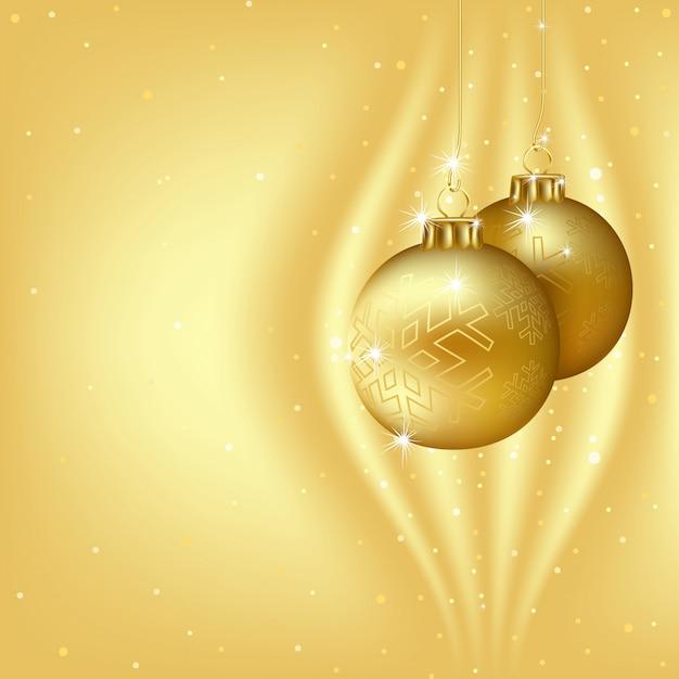 Golden christmas background Premium Vector