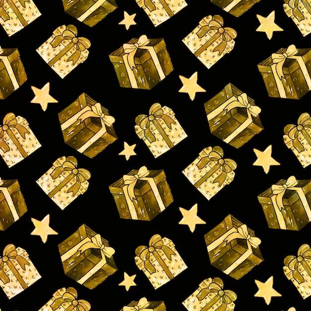 Золотой фон рождества фона Premium векторы