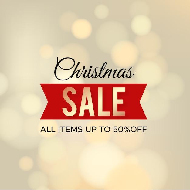 Golden christmas sale Free Vector