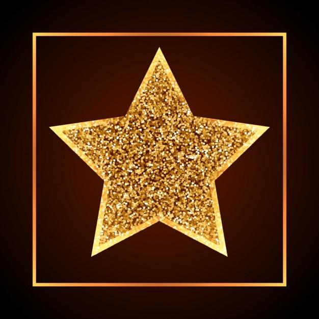 Golden christmas star Vector | Free Download