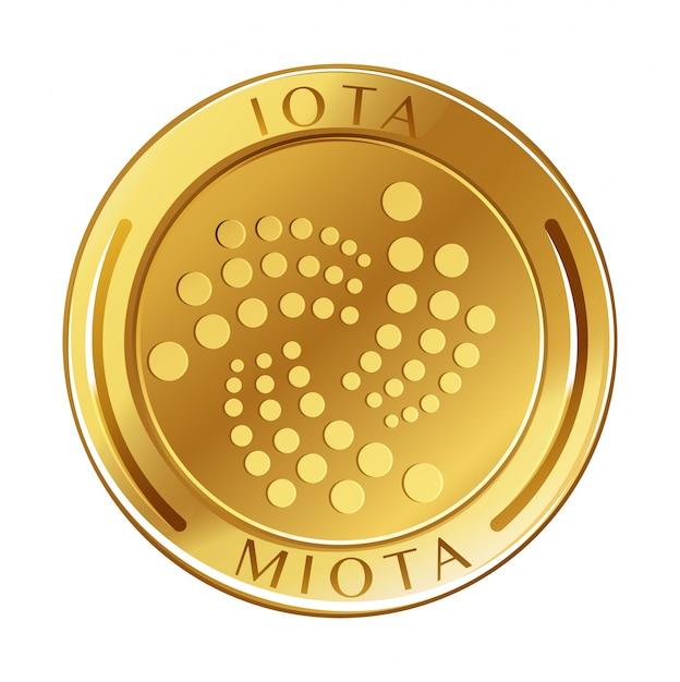 Golden coin on white background Premium Vector