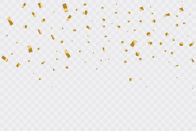 Premium Vector Golden Confetti On Transparent Background Celebration Party Illustration Free download transparent confetti png image, hd transparent confetti png, transparent transparent confetti png images with different sizes only on searchpng.com. https www freepik com profile preagreement getstarted 7410953
