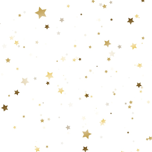 Golden confetti Premium Vector