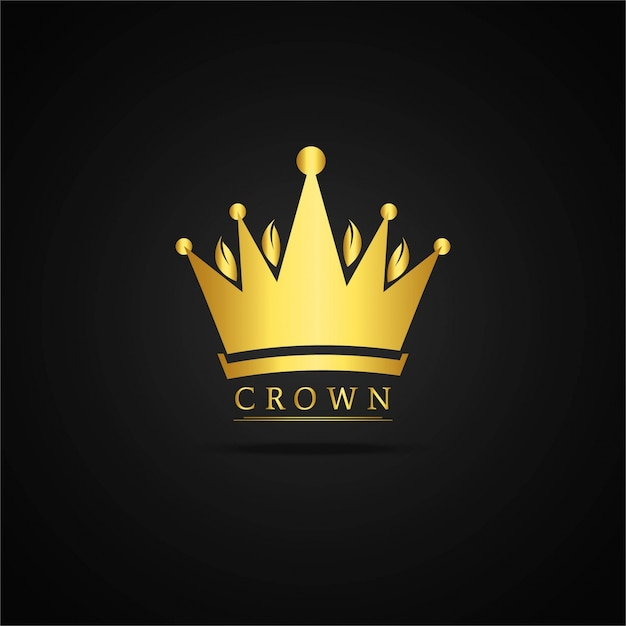 golden crown design vector free download