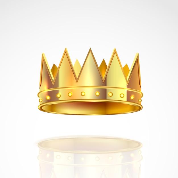 Golden crown illustration. Premium Vector