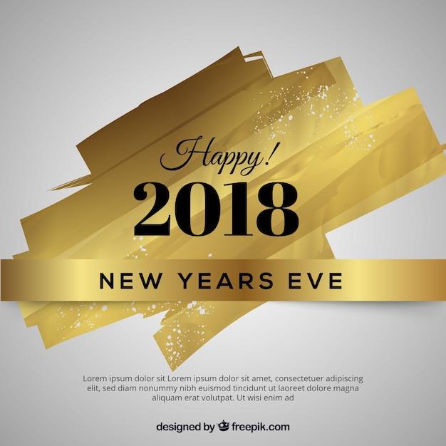 Golden design for new year 2018