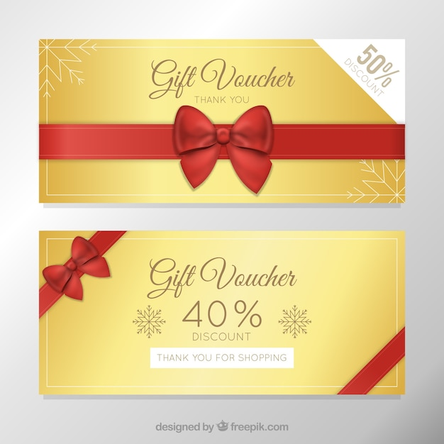 Golden Discount Vouchers Template Free Vector  Free Printable Vouchers Templates