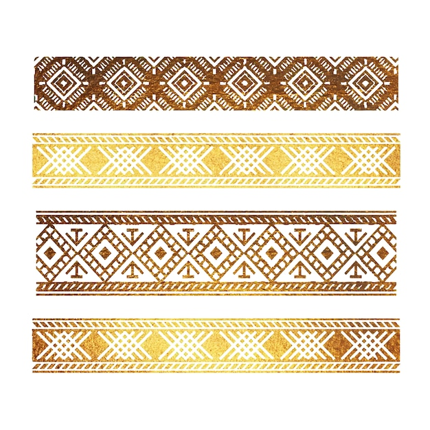 Golden dividers collection Free Vector