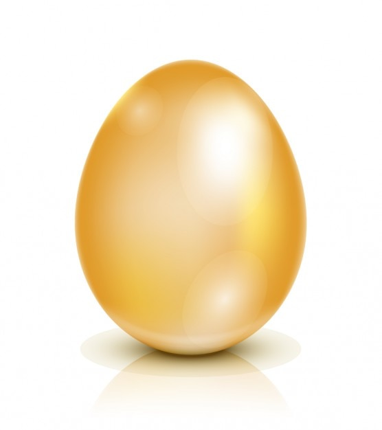Golden Easter Egg Illustration Vector  Free Download