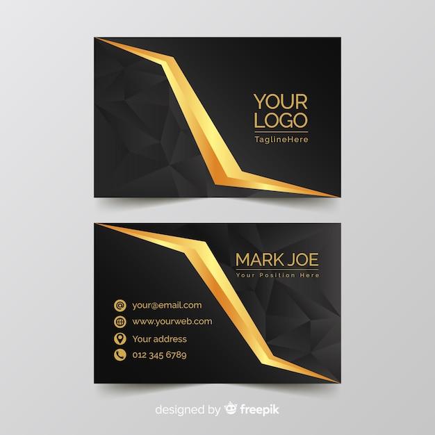 Golden elegant business card template Free Vector