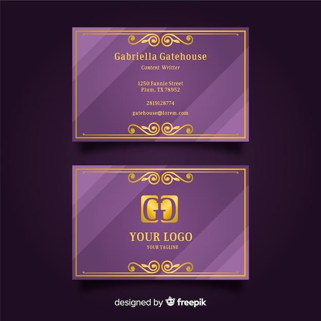 Золотой элегантный шаблон визитной карточки Бесплатные векторы