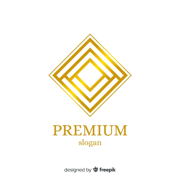 Golden elegant business logo template Free Vector