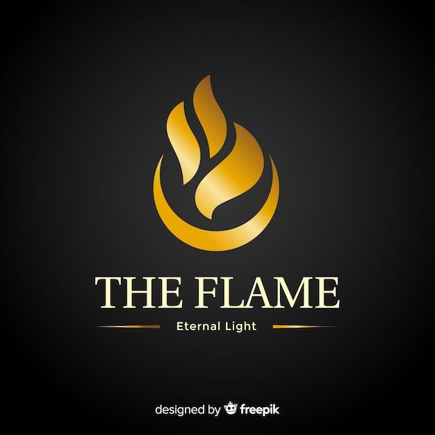 Golden elegant corporative logo template Free Vector