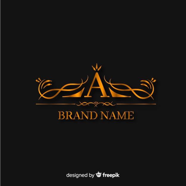 Golden elegant logo template Free Vector