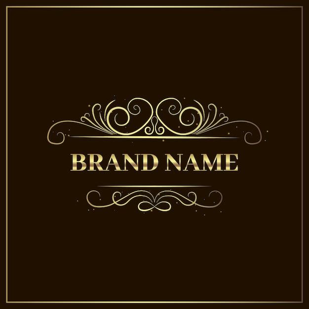 Golden elegant luxury logo template Free Vector