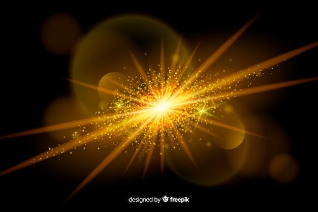 Эффект взрыва золотой частицы Бесплатные векторы