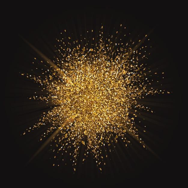 Golden explosion Vector | Free Download