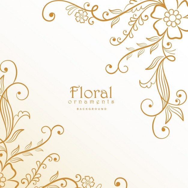 Golden Floral Ornaments Vector Free Download