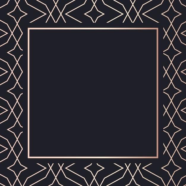 Golden frame art geometric elegant background Premium Vector