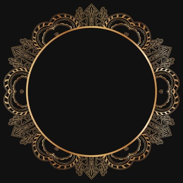 Design del telaio d'oro Vettore gratuito