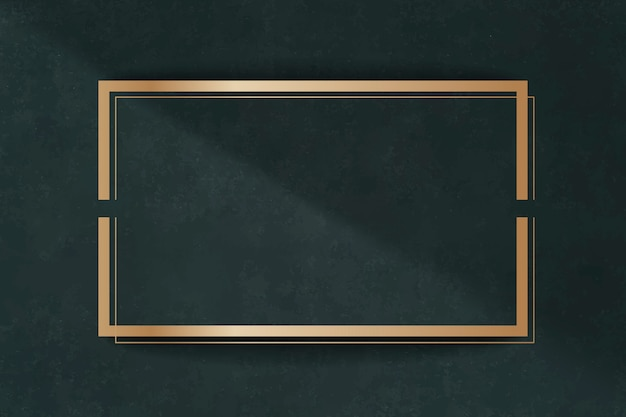Golden frame on a green card Free Vector