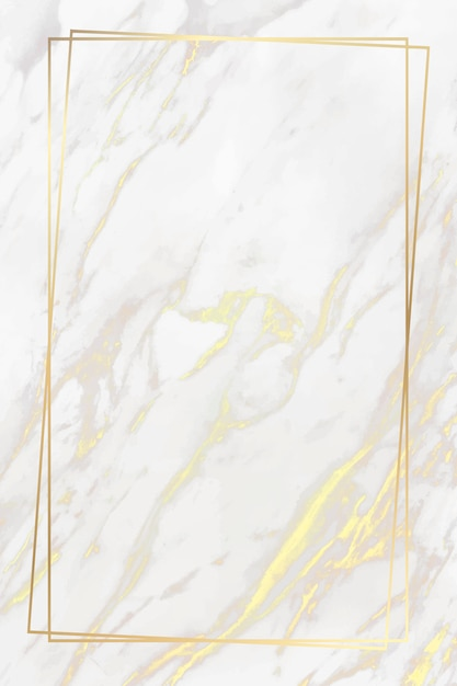 Golden frame on marble background Free Vector