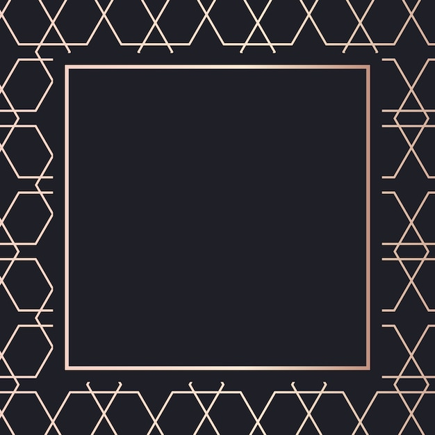 Golden frame pattern art background Premium Vector