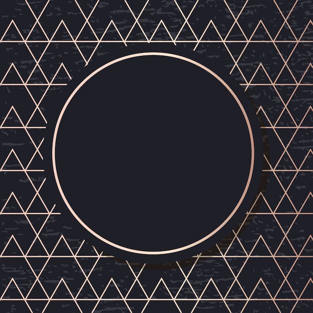 Golden frame pattern geometric elegant background  card Premium Vector