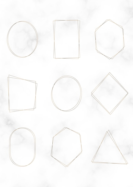 Golden frame set Free Vector