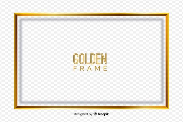 Golden frame on transparent background Free Vector